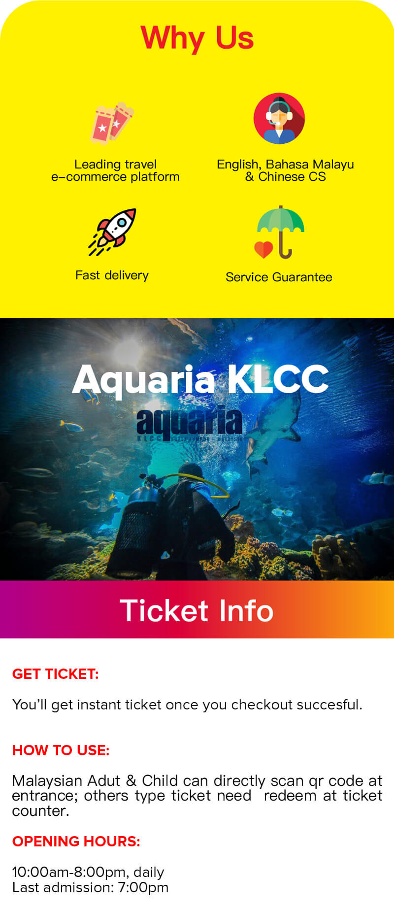 Travelog Aquaria Klcc Ticket In Kuala Lumpur Qr Code Direct Entry